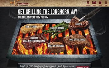 Longhorn Steakhouse Expert Griller website